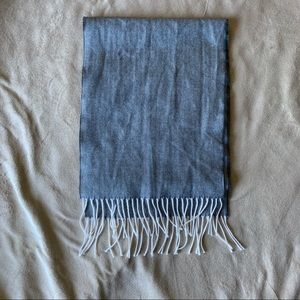 D&Y Softer than Cashmere Scarf Grey White Tassels